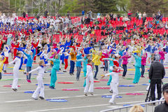 Children entertainment in honor of annual Victory Day Stock Photography