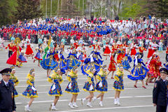 Children entertainment in honor of annual Victory Day Stock Images