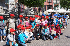 Children excursion group Stock Images