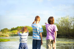 children explore nature Royalty Free Stock Photos