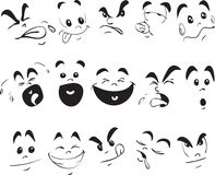 Children Face Expression Doodle Royalty Free Stock Image