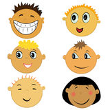 Children face icons Royalty Free Stock Photography