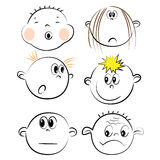 Children face icons Stock Images