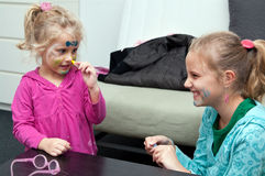 Children with face painting Stock Photo