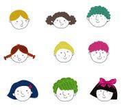 Children face set Stock Photo