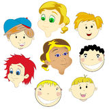 Children faces Royalty Free Stock Photos