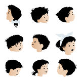 Children faces, expressions Royalty Free Stock Photo