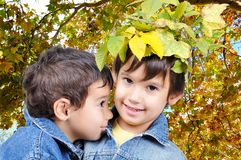 Children, fall Stock Image