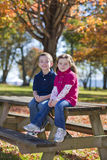Children in fall Royalty Free Stock Photo