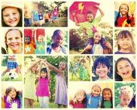 Children Family Enjoyment Playful Summer Casual Concept Stock Photos