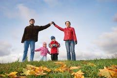Children in family house. Autumn Royalty Free Stock Photo