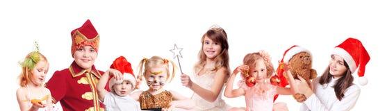Children in fancy dress royalty free stock photo