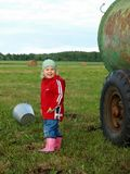 Children in farm Royalty Free Stock Photo
