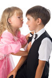 Children. Fascinating pair. Royalty Free Stock Photos