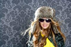Children fashion blond girl Stock Photography