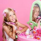 Children fashion doll blond girl Stock Image