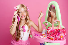 Children fashion doll blond girl Royalty Free Stock Photo