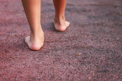Children feet in the park Royalty Free Stock Photos