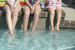 Children with feet in pool Royalty Free Stock Photography