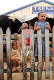 Children on the fence Royalty Free Stock Photography
