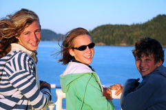 Children on ferry Royalty Free Stock Images