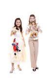 Children in the festive dresses Royalty Free Stock Photography