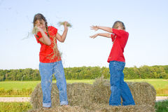 Children fighting. Royalty Free Stock Image