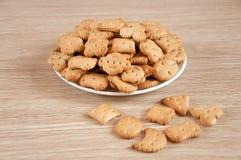 Children figured crackers Stock Images
