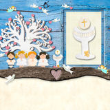 The children at the First Communion Royalty Free Stock Photography