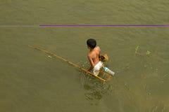 Children fishing Stock Photography