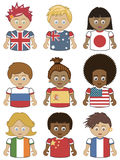 Children flag icons Royalty Free Stock Photography