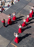 Children Flamenco Dancing Fiesta in Spain Royalty Free Stock Images