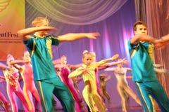 Children flashmob Royalty Free Stock Photos