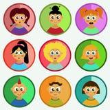 Children flat icons Royalty Free Stock Photos
