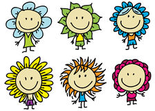 Children are flowers Royalty Free Stock Photo