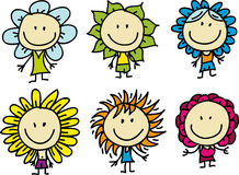 Children are flowers Royalty Free Stock Image
