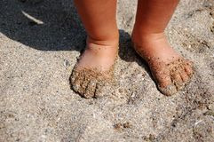 Children foot Royalty Free Stock Images