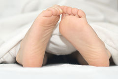Children  foot Stock Photography
