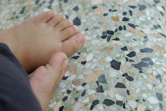 Children foot Stock Photo