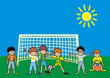 Children - football Royalty Free Stock Image