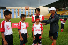 Children, football, soccer player, ho chi minh city, sport Stock Photography