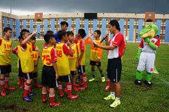 Children, football, soccer player, ho chi minh city, sport Royalty Free Stock Images