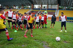 Children, football, soccer player, ho chi minh city, sport Royalty Free Stock Photos