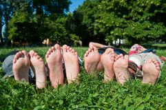 Children foots Royalty Free Stock Photos