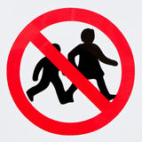 Children forbidden Royalty Free Stock Photo