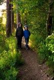Children in forest Stock Photos