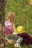 Children in the forest Royalty Free Stock Photography