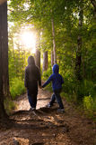 Children in forest Royalty Free Stock Photos