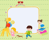 Children and frame Stock Photo