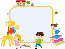 Children and frame Stock Photos